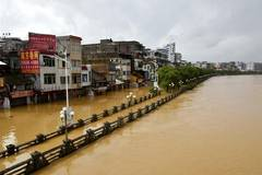 Part of city still flooded in China's Guangdong after Super Typhoon Mangkhut